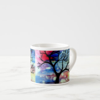 Tree and Ink Transparent Layers Espresso Cup