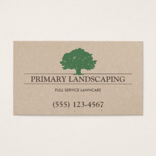Tree business cards templates zazzle tree and lawn service landscaping business card colourmoves