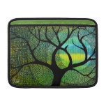 Tree and Moon - Blue and Yellow Watercolors Sleeves For MacBook Air