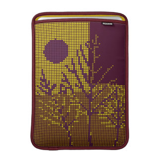 Tree and Moon Colorful Disco Lights 2 Sleeve For MacBook Air