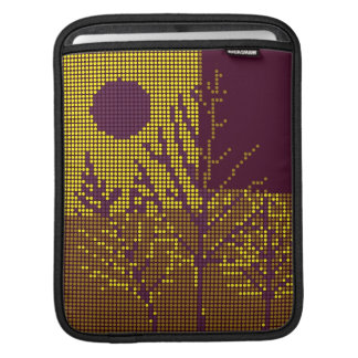 Tree and Moon Colorful Disco Lights 2 iPad Sleeve