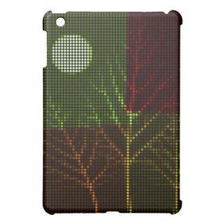 Tree and Moon Colorful Disco Lights 3 iPad Mini Cover
