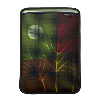 Tree and Moon Colorful Disco Lights 3 MacBook Sleeves