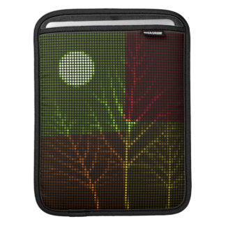 Tree and Moon Colorful Disco Lights 3 Sleeve For iPads