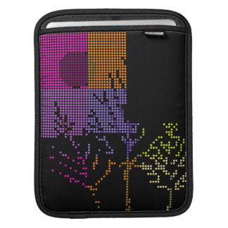Tree and Moon Colorful Disco Lights iPad Sleeve