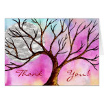 Tree and Moon Colorful Thank You Card
