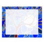 Tree and Moon on Canvas - Blue Letterhead