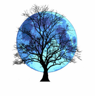 Tree and Moon Statuette