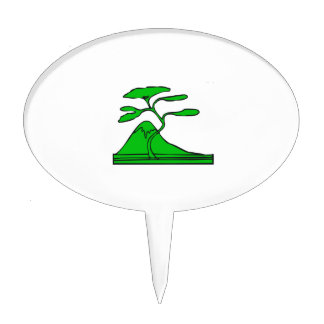 tree and mountain green.png cake topper