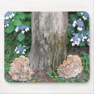Tree and Mushroom Mousepad mousepad