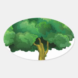 Tree and orangutan oval sticker