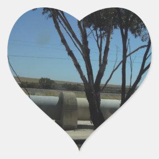 Tree and Pipeline Design Heart Sticker