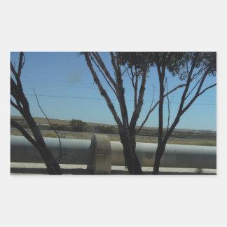 Tree and Pipeline Design Rectangular Sticker