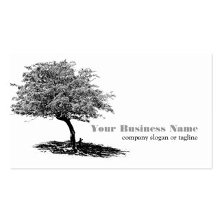 Tree and Shade l Black and White Double-Sided Standard Business Cards (Pack Of 100)
