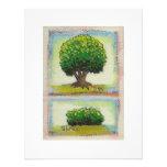 Tree and Shrub - Tiny Art miniature painting Personalized Invite