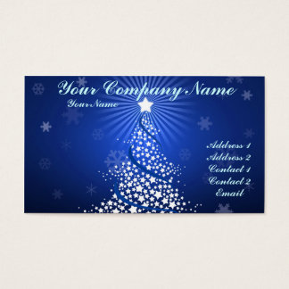 Tree and Snow 4 Business Card