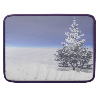 tree and snow white MacBook pro sleeve