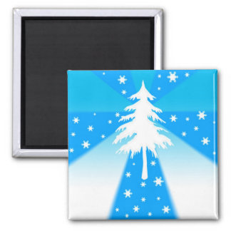 Tree and snowflakes - Magnet
