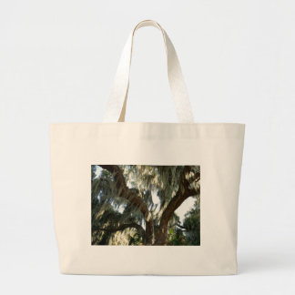 Tree and Spanish Moss Large Tote Bag