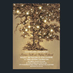 """Tree and String Lights Rustic Country Wedding Card<br><div class=""""desc"""">Old oak tree rustic country wedding invitations</div>"""