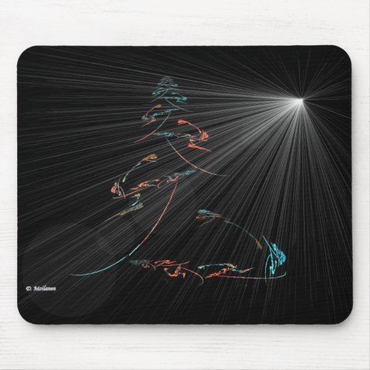 Tree and the Night Star Mouse Pad