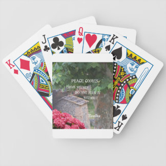 Tree and wall with Budha message Bicycle Playing Cards