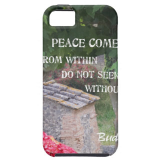Tree and wall with Budha message iPhone SE/5/5s Case