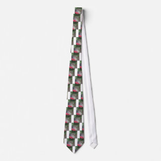 Tree and wall with Budha message Neck Tie