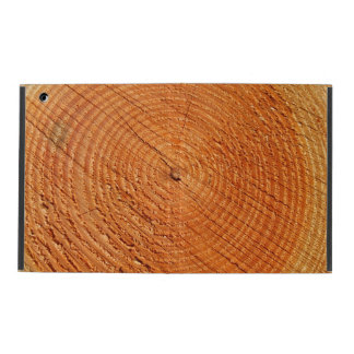 Tree annual rings close up iPad case