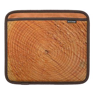 Tree annual rings close up iPad sleeve