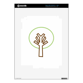 TREE APPLIQUE DECAL FOR iPad 2