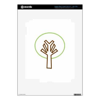 TREE APPLIQUE SKINS FOR iPad 3