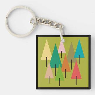 Tree Art Impression Keychain
