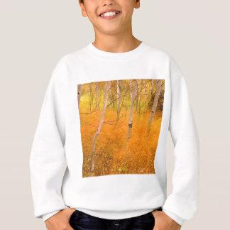 Tree Aspens And Windblown Grasses Idaho Sweatshirt