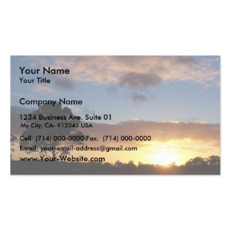 Tree At Sunrise Business Card