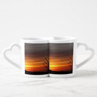 Tree At Sunset Coffee Mug Set