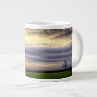 Tree at sunset HDR photography jumbo mug