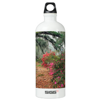 Tree Azaleas And Live Oaks Plantation Water Bottle