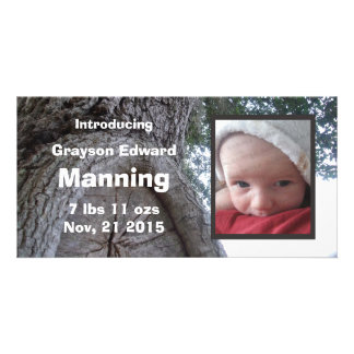 Tree Baby Announcement Personalized Photo Card
