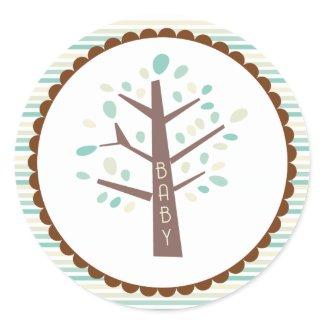 Tree Baby Shower Cupcake Topper/Sticker zazzle_sticker