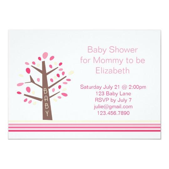 Tree Baby Shower Invitation