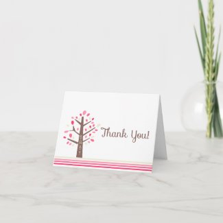 Tree Baby Shower Thank You Note Card zazzle_card