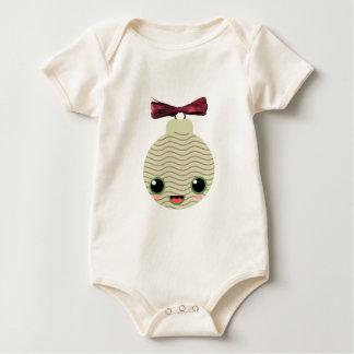 tree ball kawaii snowflakes baby bodysuits