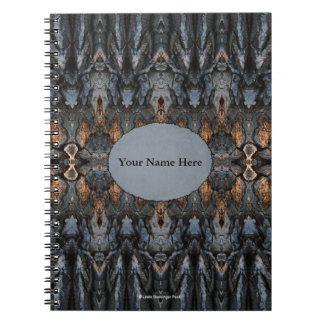 Tree Bark Abstract Art Spiral Notebook