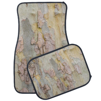 Tree Bark Abstract in Yellow, Pink, & Gray Car Mat