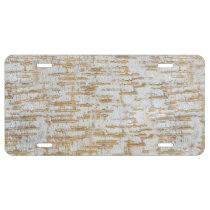Tree Bark Abstract Natural Pattern License Plate
