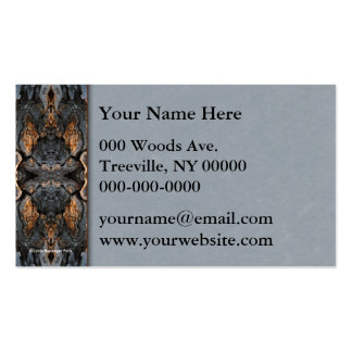 Tree Bark Abstract with Parchment Business Card