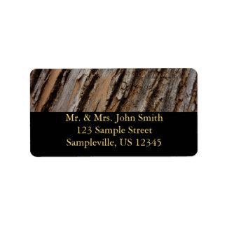 Tree Bark Address Label