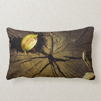 Tree bark and leaves pillow