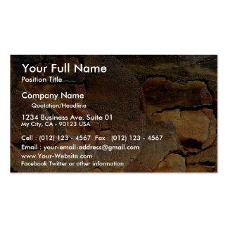 Tree bark background business card